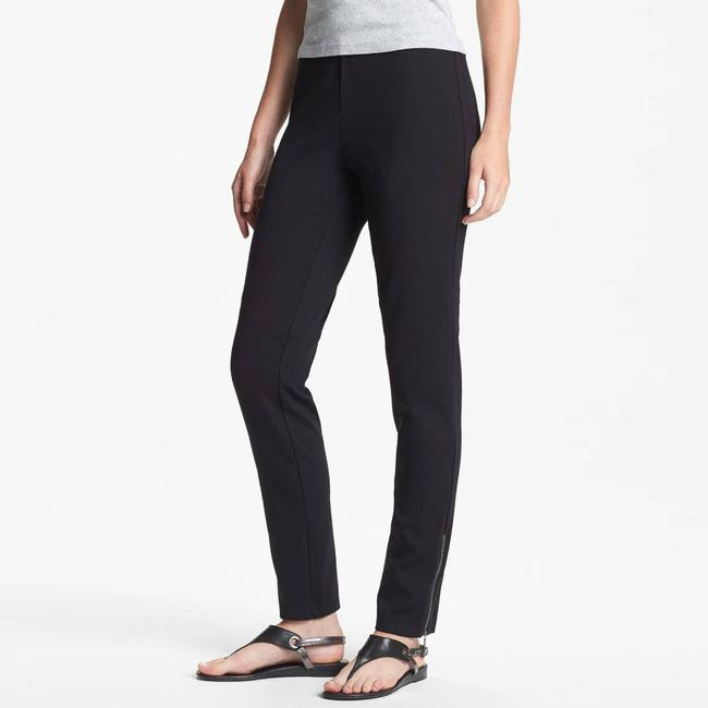 Item - Black Zip Ankle Ponte Pull On Stretch Pants Size 4 (S, 27)