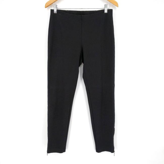 Eileen Fisher Black Zip Ankle Ponte Pull On Stretch Pants Size 4 (S, 27) Eileen Fisher Black Zip Ankle Ponte Pull On Stretch Pants Size 4 (S, 27) Image 2