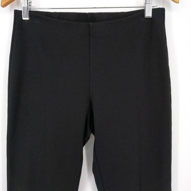 Eileen Fisher Black Zip Ankle Ponte Pull On Stretch Pants Size 4 (S, 27) Eileen Fisher Black Zip Ankle Ponte Pull On Stretch Pants Size 4 (S, 27) Image 3