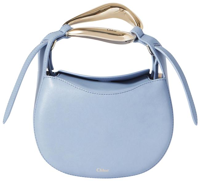 Item - Kiss Small Blue Leather Tote