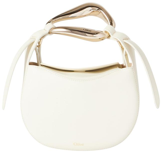 Item - Kiss Small White Leather Tote