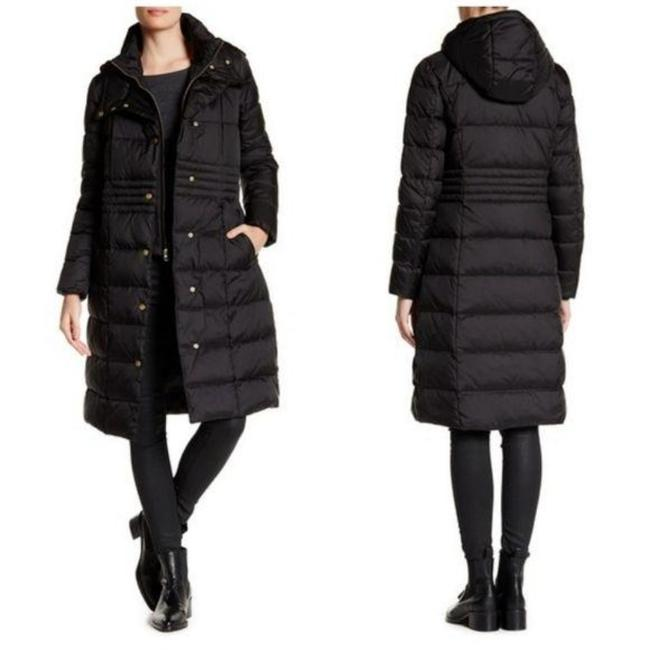 Item - Black Hooded Quilted Coat Size 4 (S)