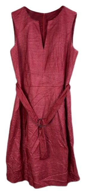 Item - Silk Belted Sheath Mid-length Short Casual Dress Size 10 (M)