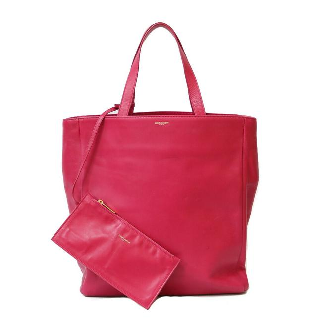 Item - Tote Ladies Pink Leather Shoulder Bag