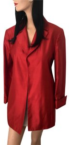Dana Buchman Chantung Evening Orange Copper Silk Shanturn Jacket