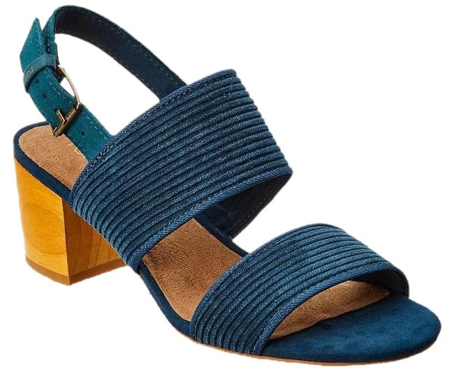 Item - Blue Poppy Block Heels In Atlantic Corduroy Sandals Size US 6.5 Regular (M, B)