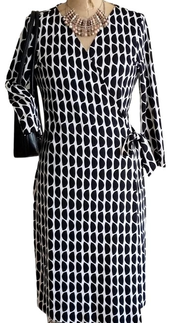 Item - Black & White New Julian Two Mid-length Work/Office Dress Size 14 (L)