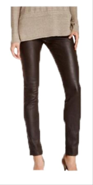 Item - Brown Lamb Leather Mixed Suede Skinny Jeans Size 26 (2, XS)