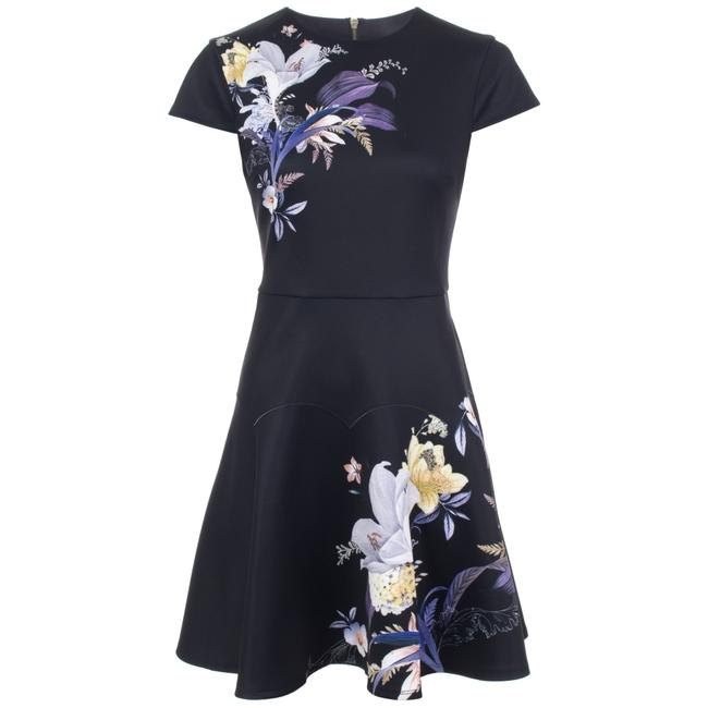Item - Navy Pipino Decadence Skater Short Casual Dress Size 6 (S)