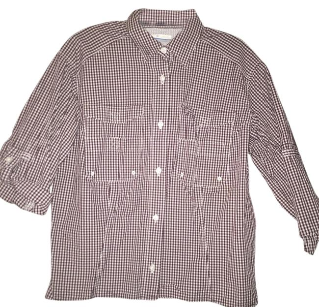 Preload https://item5.tradesy.com/images/columbia-sportswear-company-maroon-and-white-gingham-button-down-top-size-8-m-2909719-0-0.jpg?width=400&height=650