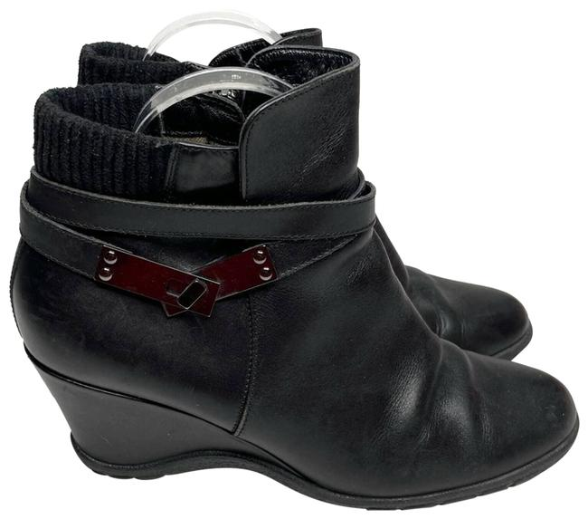 Item - Black Suede Strap Buckle Boots/Booties Size US 8 Regular (M, B)