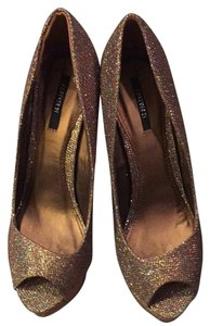 Forever 21 Burnished Gold Platforms