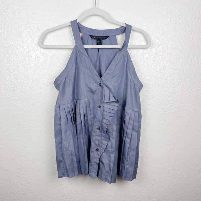 Item - Purple V-neck Pleated Tank Top/Cami Size 4 (S)