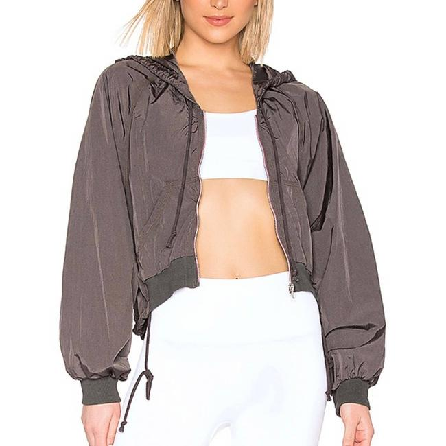 Item - Gray L Movement On The Rise Jacket Midnight - Activewear Size 14 (L)