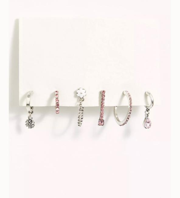 Item - Silver La Fleur Set Earrings