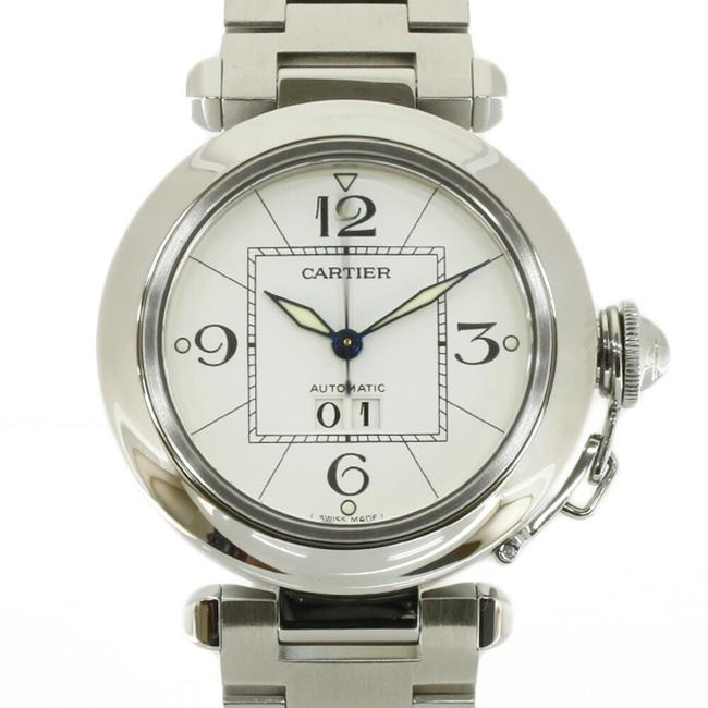 Item - Pasha C Silver White Men's Stainless Steel Watch