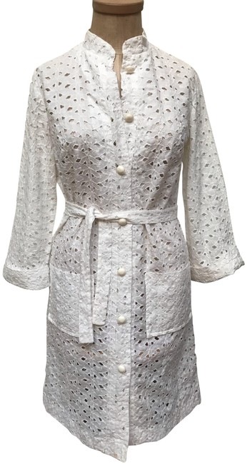 Item - White Eyelet Cotton Cover-up/Sarong Size 4 (S)