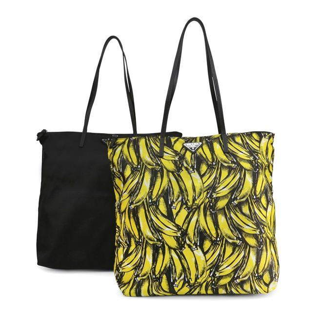 Item - Shopping Twin 1by300 Excellent Condition Black/Yellow Nylon Shoulder Bag