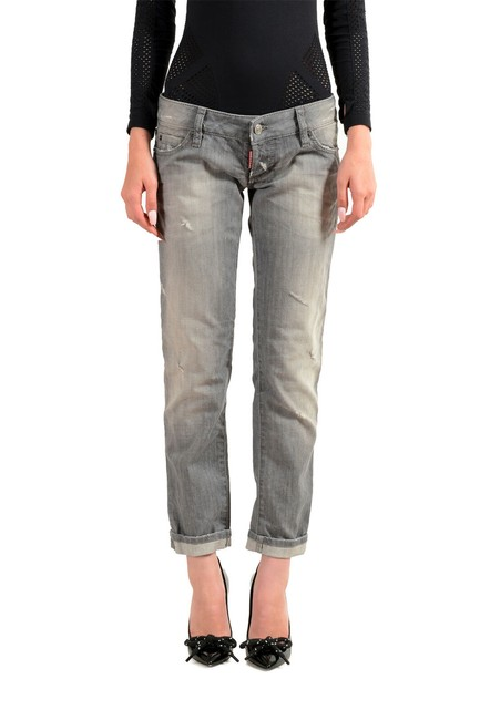 "Item - Gray Women's ""Pat Wash Distressed Straight Leg Jeans Size 27 (4, S)"