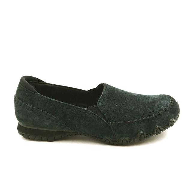Item - Blue Womens Relaxed Fit Alumni Suede Loafers Memory Foam Navy Flats Size US 7 Wide (C, D)