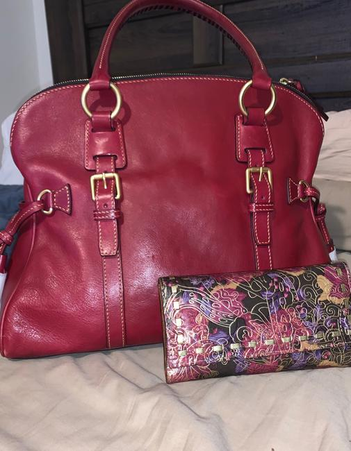 Item - Dome Buckle and Patricia Nash Wallet Raspberry Leather Satchel