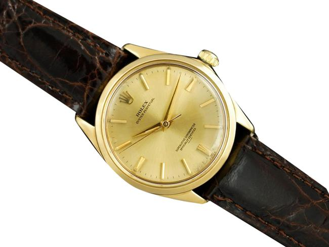 Item - Champagne 1963 Oyster Perpetual Vintage Mens with Rare Underline Dia Watch