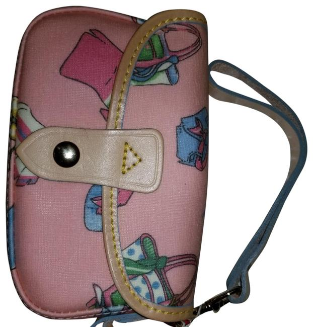 Item - New with Tags Pink Coated Canvas Wristlet