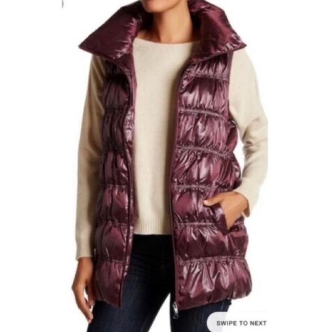 Item - Burgandy Puffer Funnel Neck Vest Size 6 (S)