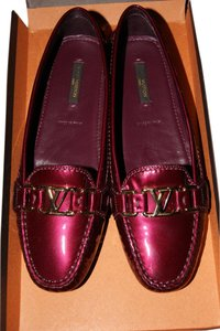 Louis Vuitton Oxford Designer Loafers Rouge Fauviste (Wine) Flats