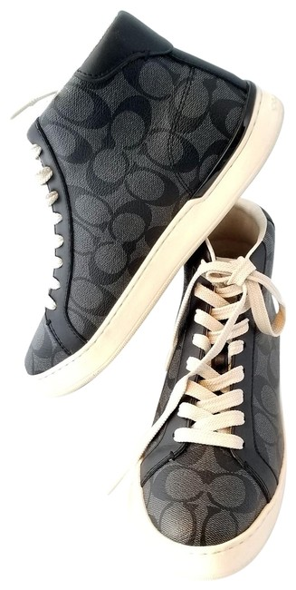 Item - Black Saddle Clip High Top Signature C Coated Canvas G5385 Sneakers Size US 7.5 Wide (C, D)