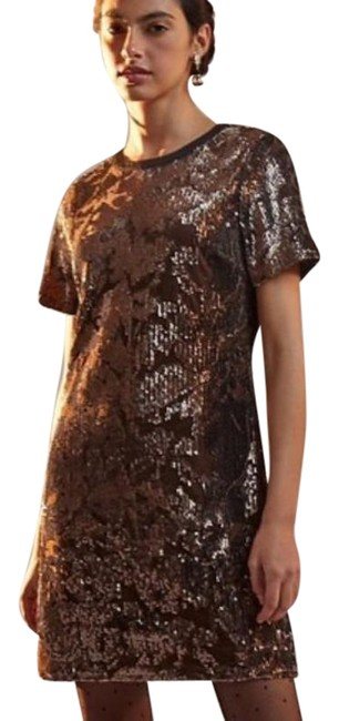 Item - Brown Ro and De Andi Sequined Short Night Out Dress Size 8 (M)