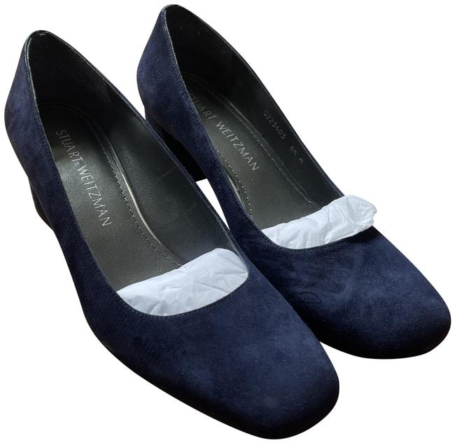 Item - Navy Mary Suede Mid-heel Pumps Size US 6.5 Wide (C, D)