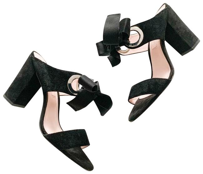 Item - Black Megan Ribbon Tie Sandals Size US 6.5 Regular (M, B)