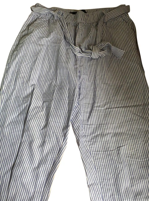 Item - Blue and White Stripped Basic Pants Size 10 (M, 31)