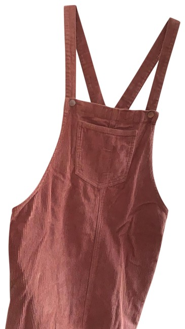 Item - Burnt Pink Overall Styled Mid-length Short Casual Dress Size 12 (L)