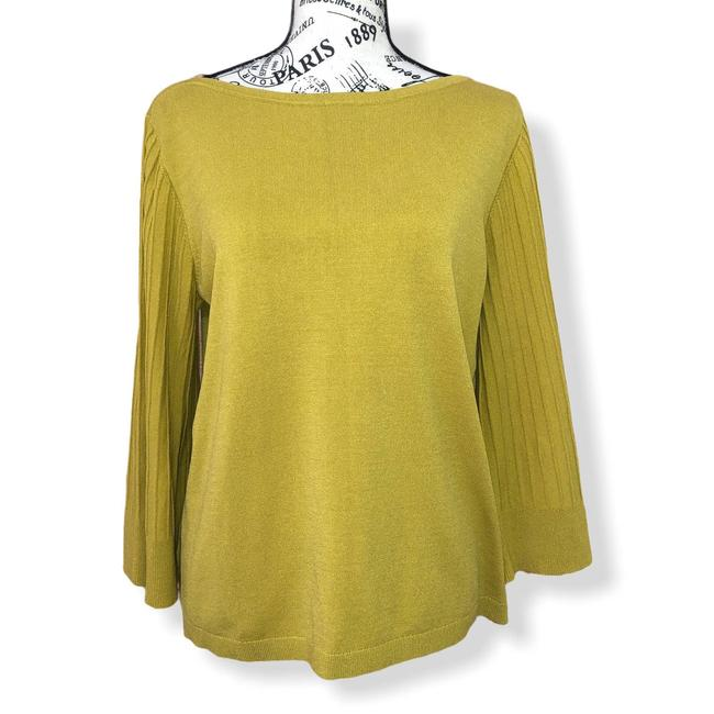 Item - Mustard Wide Sleeve Large Gold Sweater