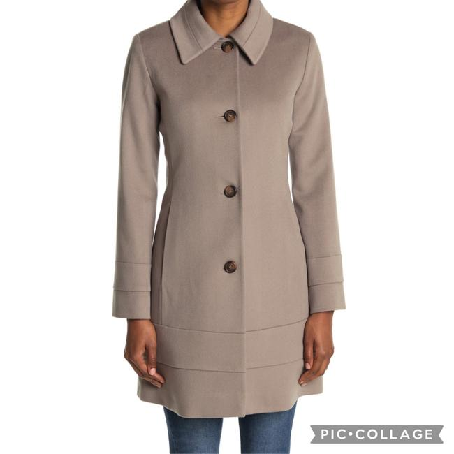 Item - Taupe Club Collar Wool Coat Size 6 (S)