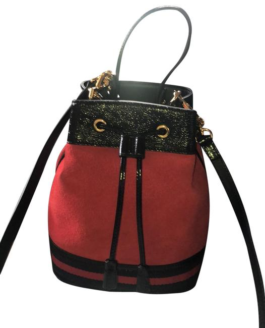 Item - Ophidia Bucket Red Suede Leather Shoulder Bag