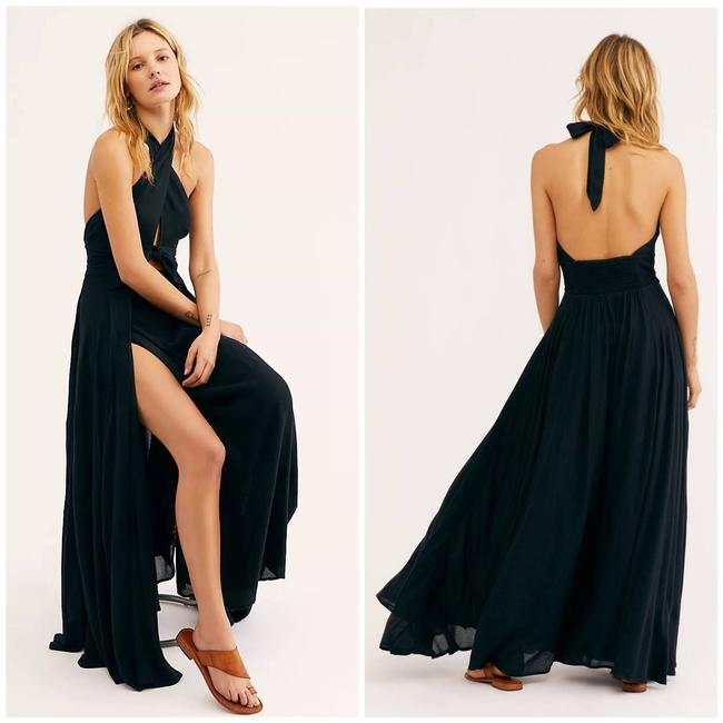 Item - Black My Long Time Love Casual Maxi Dress Size 4 (S)
