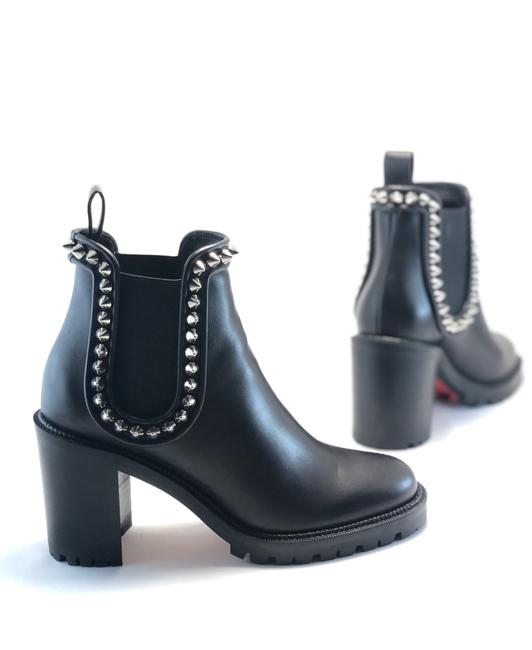 Item - Black Crapahutta 70mm Spiked Leather Ankle Boots/Booties Size EU 38 (Approx. US 8) Regular (M, B)