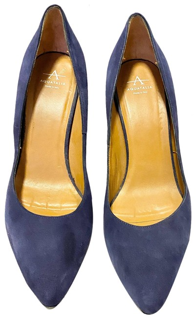 Item - Blue Melina Suede Point Pumps Size US 9 Regular (M, B)