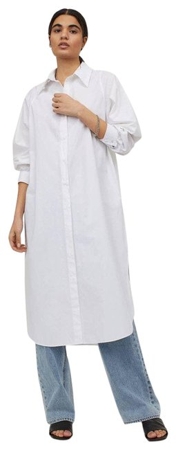 Item - White Cotton Medium Casual Maxi Dress Size 10 (M)