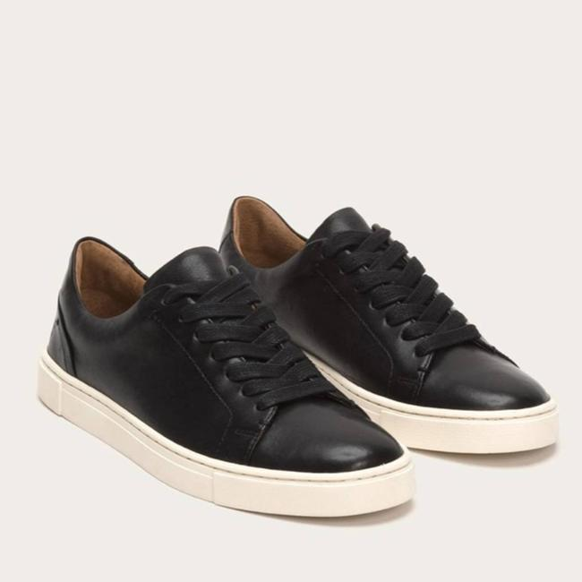 Item - Black Ivy Low Lace Leather Sneakers Size US 6.5 Regular (M, B)
