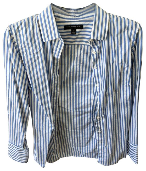 Item - Blue Button-down Top Size 4 (S)
