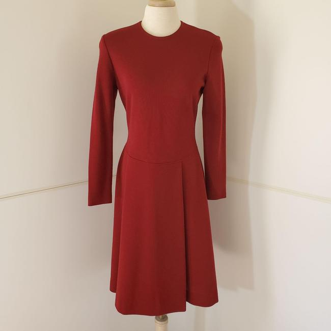 Item - Red Vintage 80's Wool Knit Faux Mid-length Work/Office Dress Size 6 (S)