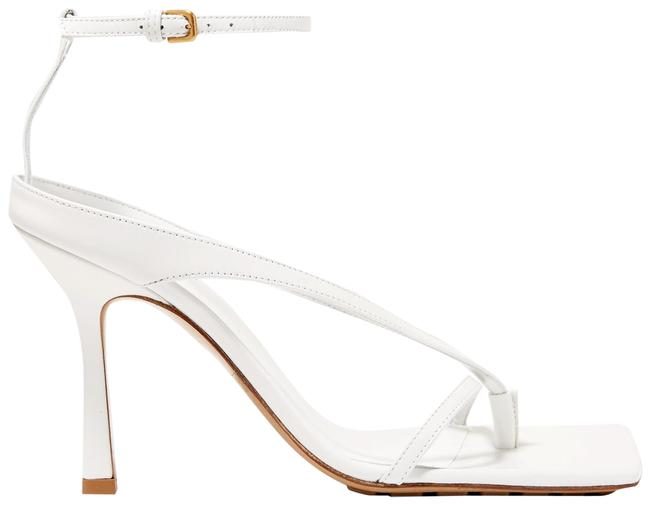 Item - White Leather Sandals Size EU 38.5 (Approx. US 8.5) Regular (M, B)