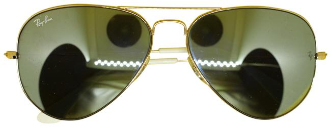 Item - Gold/White Nappy Burns Sunglasses
