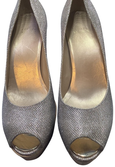 Item - Silver with Gold O934018 Wedges Size US 9 Regular (M, B)