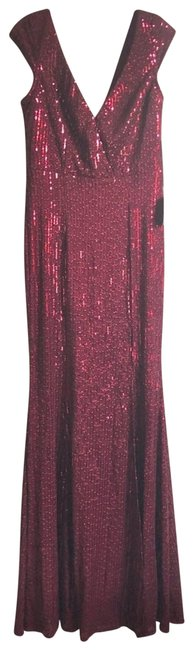 Item - Red Burgundy Sequin Maxi Long Formal Dress Size 6 (S)