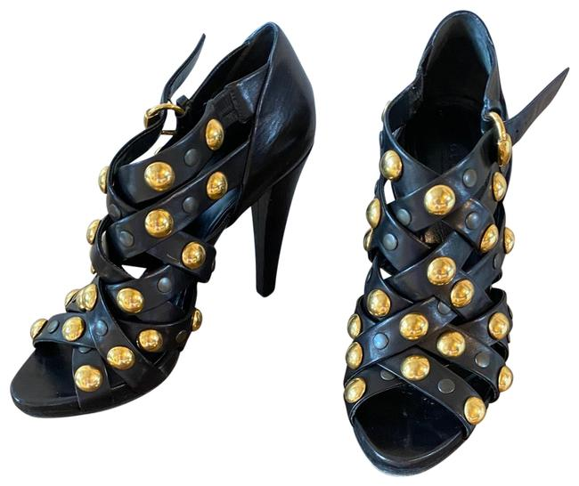 Item - Black and Gold 208687a3m00 Boots/Booties Size EU 41 (Approx. US 11) Regular (M, B)
